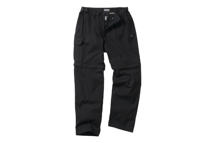 Craghoppers Outdoor Classic Mens Kiwi Convertible Trousers (Black) (32R)