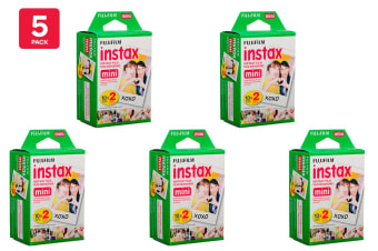 Fujifilm Instax Mini Film - 20 Sheets (5 Pack)