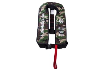 Camo Watersnake Manual Inflatable PFD - Level 150 Adult Life Jacket
