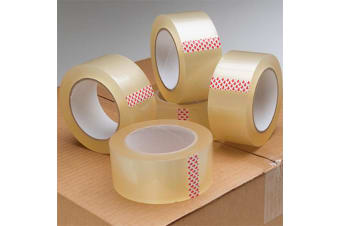 Clear Packaging Tape Adhesive Sticky Tapes 48mm 75M - 72 pcs