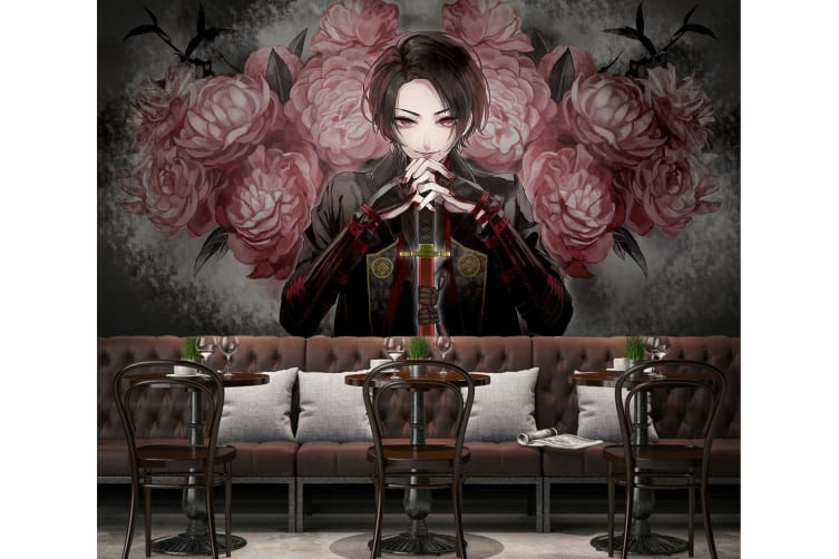 3D Suit Red Eyes 50 Anime Wall Murals Woven paper (need glue), XXXL 416cm x 254cm (WxH)(164''x100'')