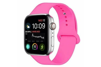 Apple Watch iWatch Series 1 2 3 4 5 Silicone Replacement Strap Band 38mm/40mm S/M size-Barbie Pink