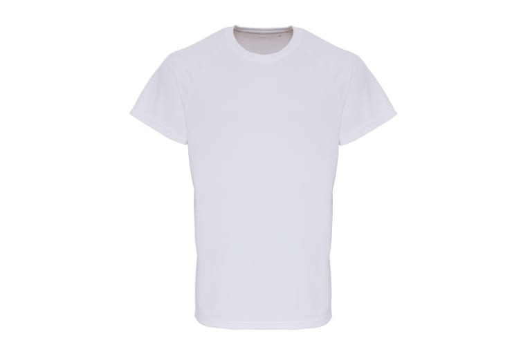 TriDri Mens Embossed Sleeve T-shirt (White) (L)