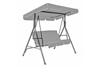 Jhoola 3 Seater Outdoor Swing Chair with Canopy - Grey