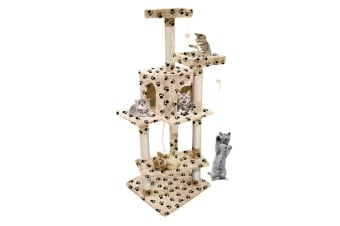PaWz Cat Scratching Post Tree Gym House Condo Furniture Scratcher Pole 1.45 M AU  -  Paw Printed