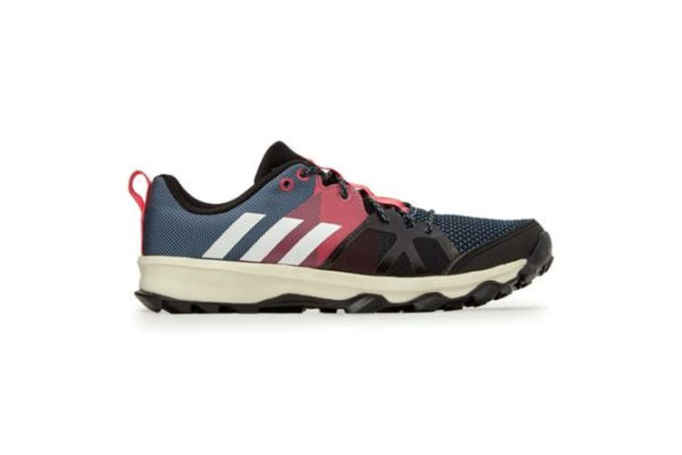 Adidas Kid's Kanadia 8.1 Shoes (Raw steel/off white/real pink, Size 5 US)