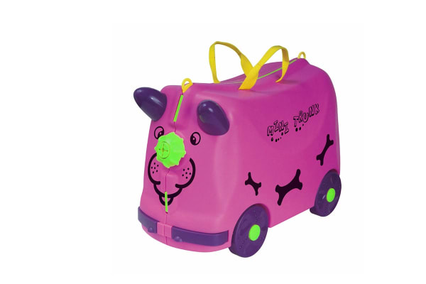 Kids Trolley Ride-On Luggage - Pink
