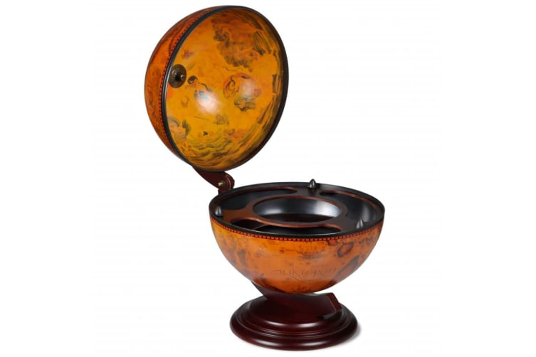 vidaXL Tabletop Globe Bar Wine Stand Wood