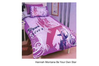 Hannah Montana Be Your Own Star Quilt Cover Set Single by Disney