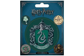 Harry Potter Slytherin Stickers (Green) (One Size)