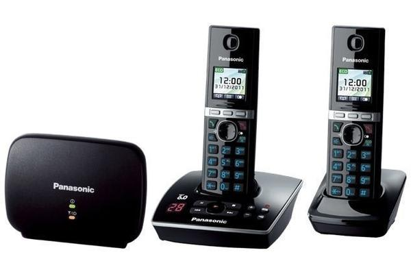 Panasonic Dect 6.0 Twin Pack W/ Dect Repeater + Answer Machine Kx-Tg8032Alb - Refurbished