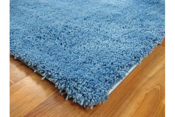 Pack of 2 Awesome Shag Rugs Blue 130x70cm