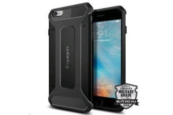 "Spigen iPhone 6s Plus (5.5"") Rugged Armor Case-Black"