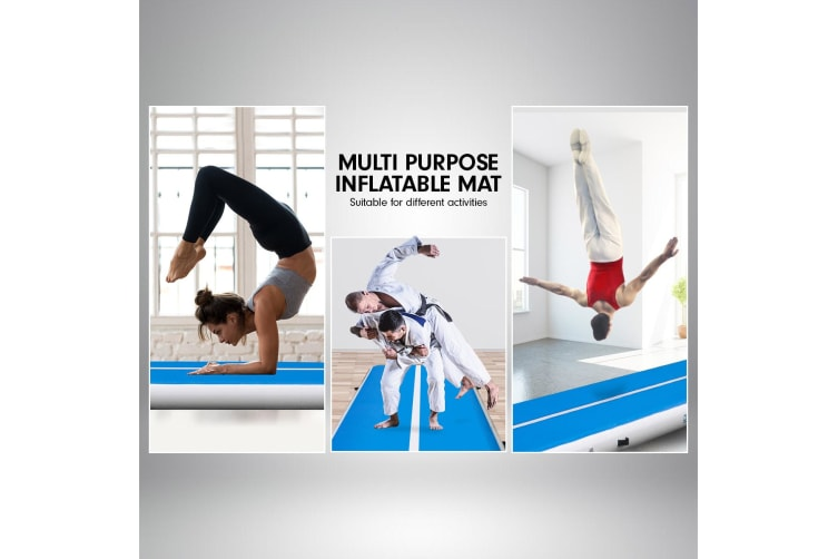 3m Airtrack Tumbling Gymnastics Exercise Mat Air Track - Blue White