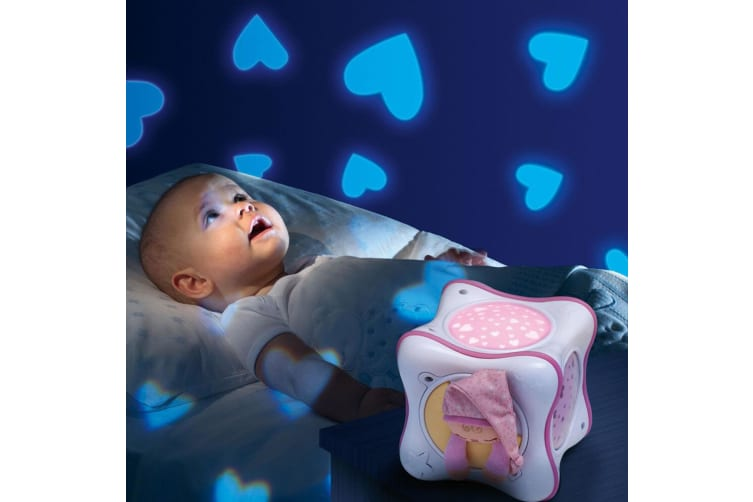 Chicco Rainbow Cube Baby Lullaby Musical Ceiling Light Projector Toy 0m+ Pink
