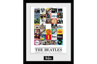 The Beatles Through The Years Framed Picture (Multicoloured) (One Size)