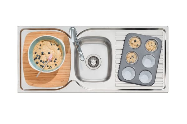 Oliveri Endeavour 1 & 3/4 Bowl Topmount Sink With Drainer (EE12-1TH)