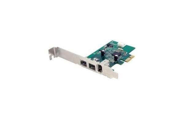 STARTECH 3 Port 2b 1a 1394 PCI Express FireWire Card Adapter - 1394 FW PCIe FireWire 800 / 400 Card