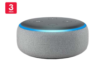 Amazon Echo Dot (3rd Generation, Heather Grey) - 3 Pack