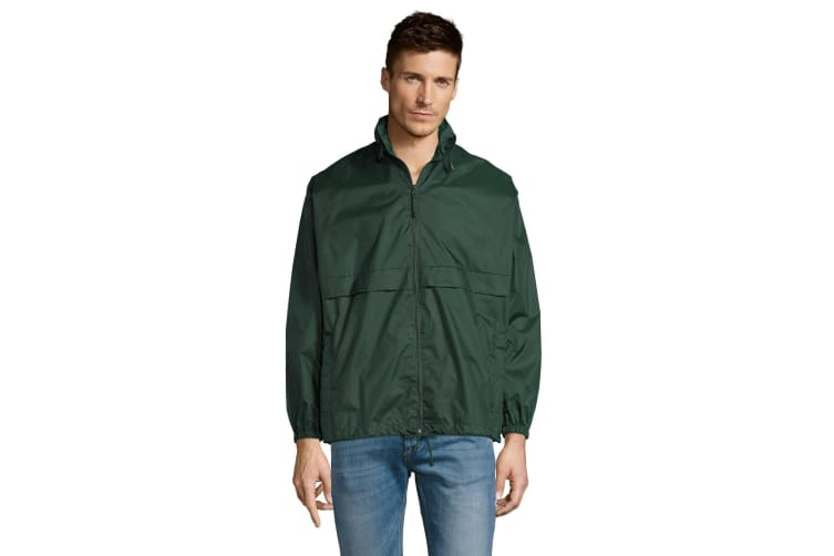 SOLS Unisex Surf Windbreaker Lightweight Jacket (Forest Green) (M)