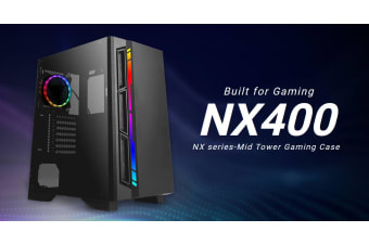 Antec NX400 ATX, Tempered Glass, ARGB, LED Control, Up to 6 cooling Fans, CPU