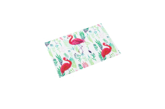 Waterproof Table Mat Palm Leaf Flamingo Place Mats Coasters - D