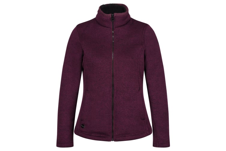 Regatta Womens/Ladies Raizel Full Zip Fleece (Prune/Black) (UK Size 16)