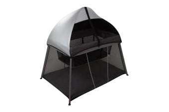 Bebecare In & Out Travel Cot Black Silver