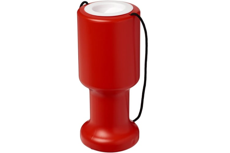 Asra Hand Held Plastic Charity Container (Red) (One Size)