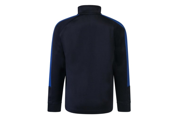 Finden & Hales Childrens/Kids Boys Knitted Tracksuit Top (Navy/Royal) (13 Years)