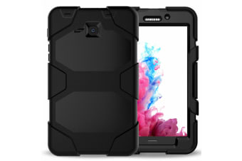 For Samsung Galaxy Tab A 8.0'' T350 T355 Shockproof Hybrid Tablet Case Cover--Black