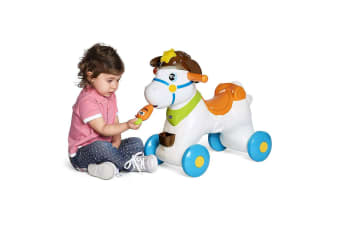 Chicco Baby Rodeo Horse Kids Ride On/Rocker/Activity Toy w/Lights & Sound 1-3Y