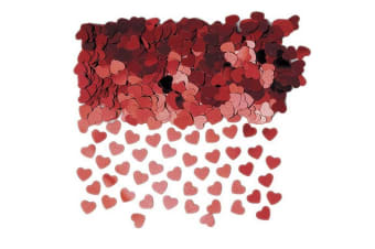 Amscan Sparkle Hearts Confetti (Red) (One Size)