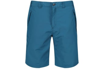 Regatta Great Outdoors Mens Leesville Quick Drying Shorts (Sea Blue) (40)
