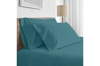 Valeria 1000TC Ultra Soft King Single Bed Sheet Set - Moroccan Blue