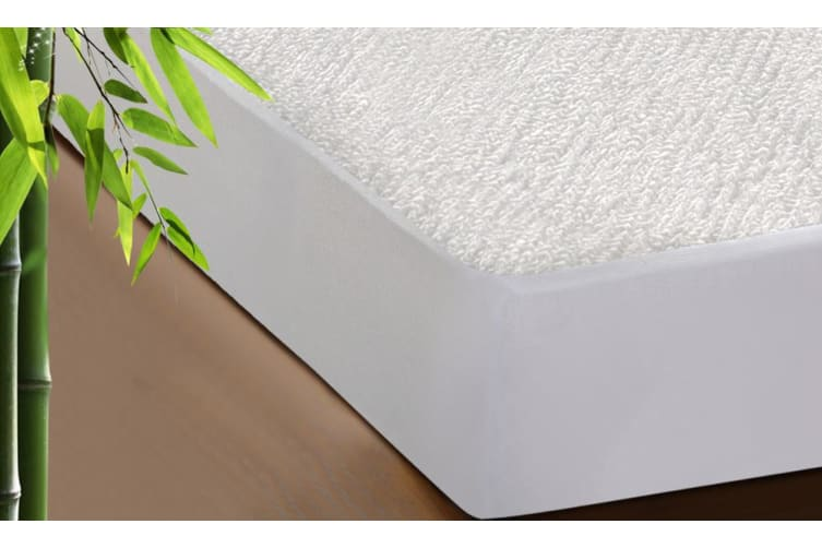 DreamZ Fitted Waterproof Mattress Protector with Bamboo Fibre Cover King Single