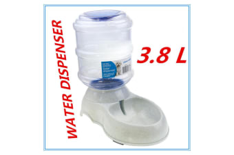 Automatic Pet Water Dispenser 3.8L Drink Feeder Gravity Fountain Plastic Bowl Cat Dog