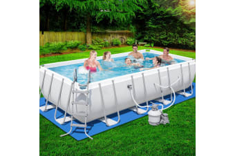 Bestway 18ft Above Ground Swimming Pool Steel Pro Frame Sand Filter Pump Set