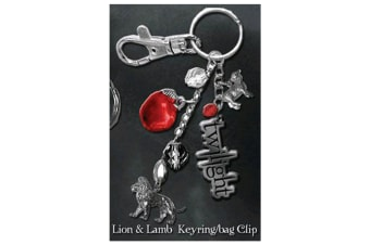 Twilight Keyring / Bag Clip (Lion & Lamb)