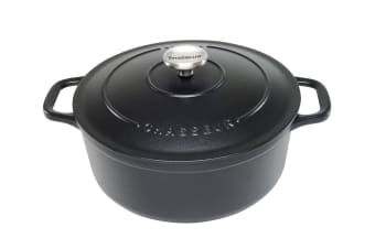 Chasseur Round French Oven 26cm 5.2L Matte Black