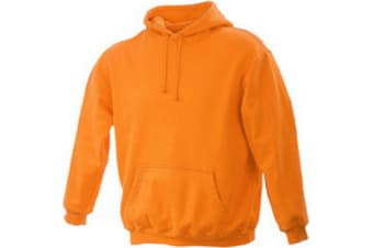 James and Nicholson Unisex Hooded Sweatshirt (Orange) (XXL)