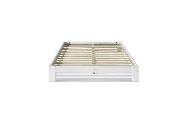 Artiss Double Wooden Bed Frame Base (White)