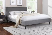 Ovela Bed Frame - Alto Collection (Grey, Queen)