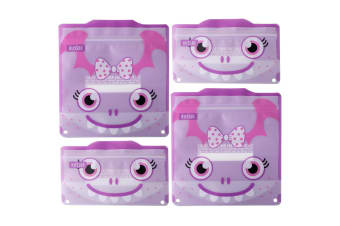 Russbe Reusable Snack And Sandwich Bags - Set 4-purple Monster