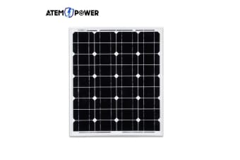 ATEM POWER 60W 12V Solar Panel Kit Mono Generator Caravan Camping Battery Power Charging