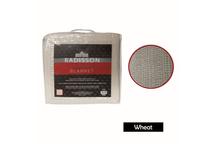 Radisson All Season Cotton Blanket Wheat SINGLE