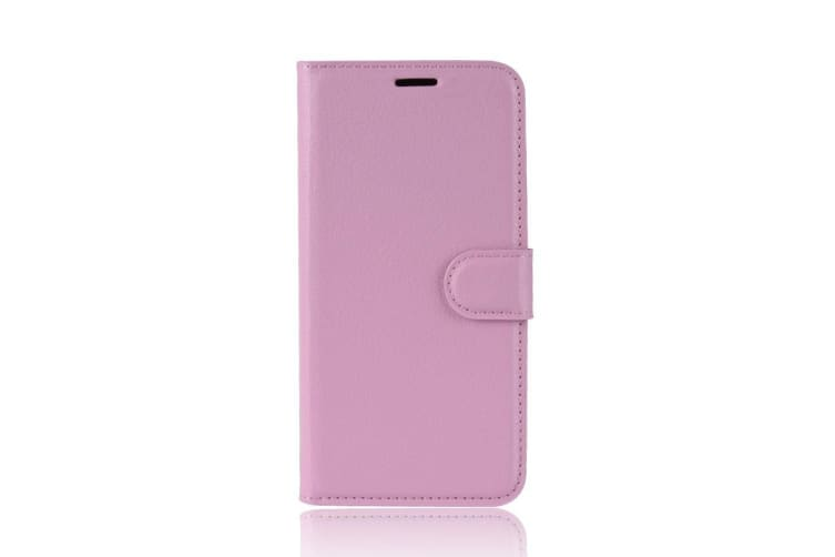 For Google Pixel 3 XL Leather Wallet Case Pink Lychee Leather Cover Card Slots