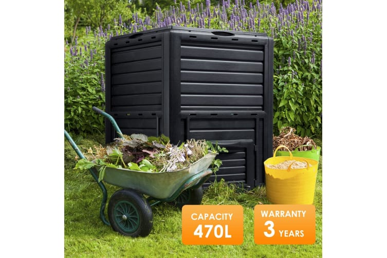 470L Compost Bin Food Waste Recycling Composter Kitchen Garden Composting