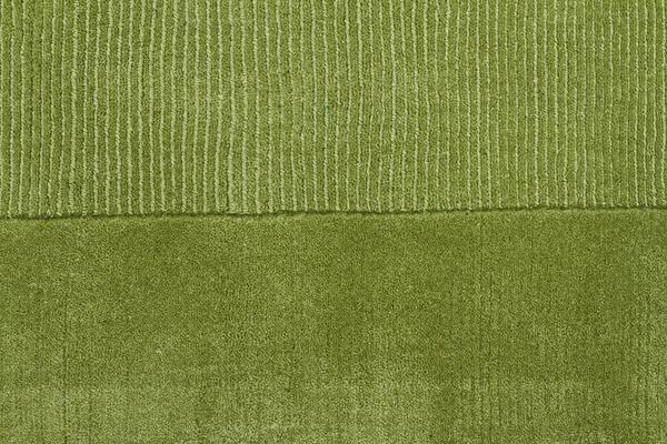 Cut And Loop Pile Runner Rug Green 400x80cm