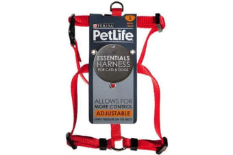 Petlife Nylon Adjustable Harness Red - S